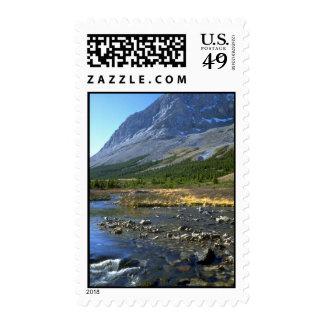 Elbow River and Elpoca Mountain, Rocky Mountains, Postage Stamp