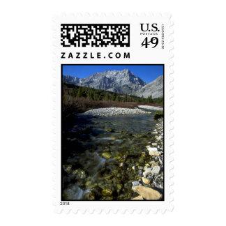 Elbow River and Elpoca Mountain, Rocky Mountains, Postage Stamps