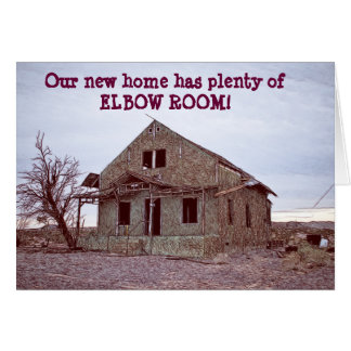 Elbow Room Funny Change of Address Card
