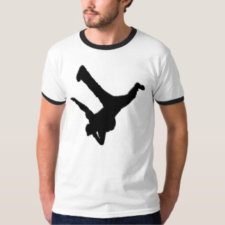 Elbow Stand Ringer T T-Shirt