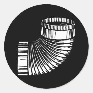 Elbow Round Sticker