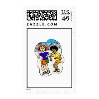 Elbowing Postage Stamp
