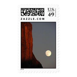 elcap and full moon postage stamps