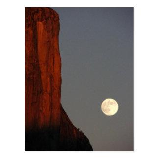 elcap and full moon postcard