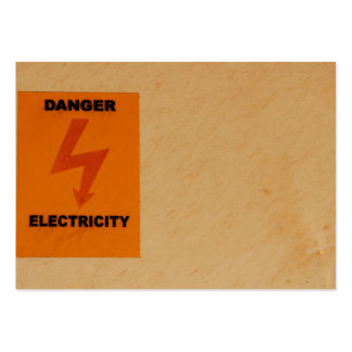 Elcetricity danger sign large business card