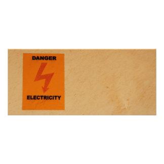 Elcetricity danger sign rack card