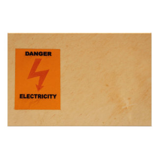 Elcetricity danger sign stationery