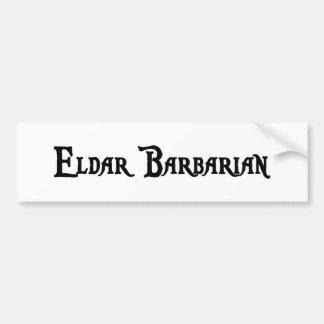 Eldar Barbarian Bumper Sticker