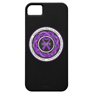Elder Abuse Hope Intertwined Ribbon iPhone 5 Cases
