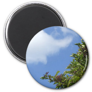 Elder Berries 2 Inch Round Magnet