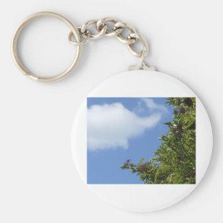 Elder Berries Basic Round Button Keychain