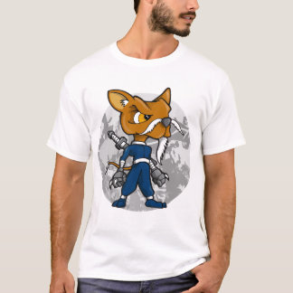 Elder Dog Warrior Ninja Master  T-Shirt