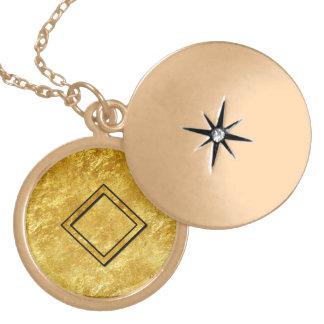 """Elder Futhark Neclace """"Ingwaz"""" Gold Plated Necklace"""