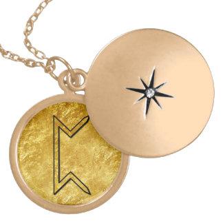 "Elder Futhark Neclace ""Pertho"" Gold Plated Necklace"