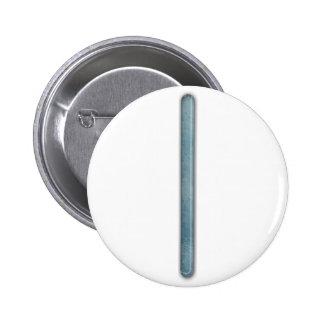 Elder Futhark Rune Isa Pinback Buttons