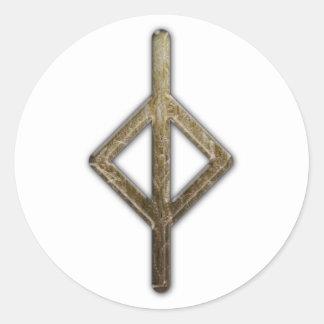 Elder Futhark Rune Jera Classic Round Sticker