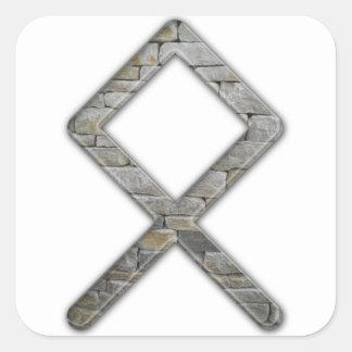 Elder Futhark Rune Odal Square Sticker