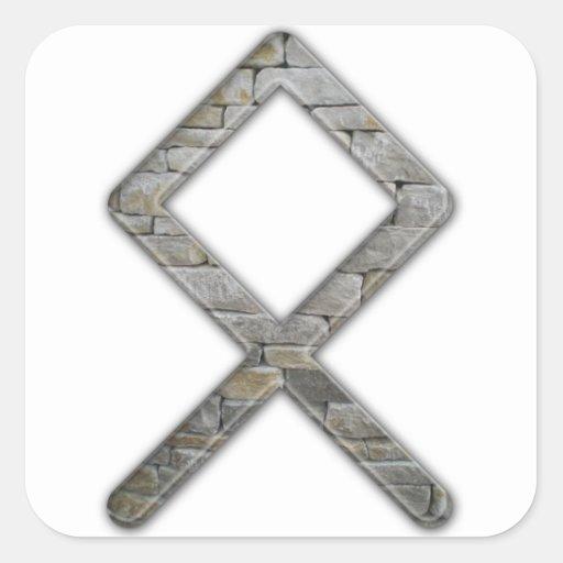 Elder Futhark Rune Odal Stickers