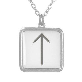 Elder Futhark Rune Tyr Silver Plated Necklace
