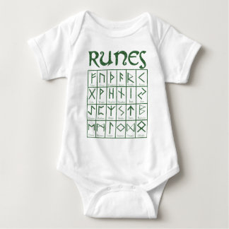 Elder Futhark Runes Baby Bodysuit