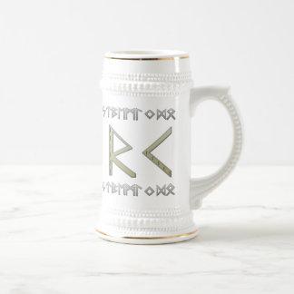 Elder Futhark Runes gold Beer Stein