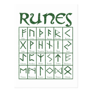 Elder Futhark Runes Postcard