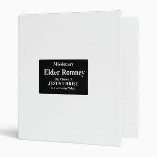 Elder Romney 3 Ring Binder