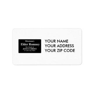 Elder Romney Address Label