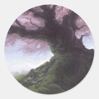 Elder Sakura Classic Round Sticker
