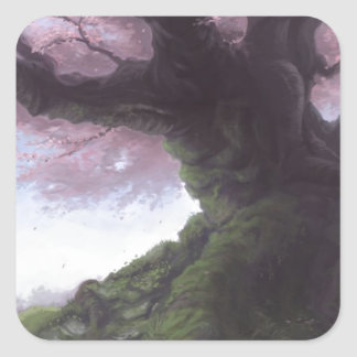 Elder Sakura Square Sticker