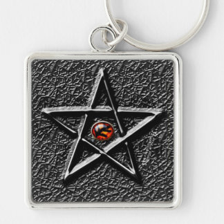 Elder Sign Silver-Colored Square Keychain
