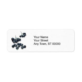 elderberries return address label
