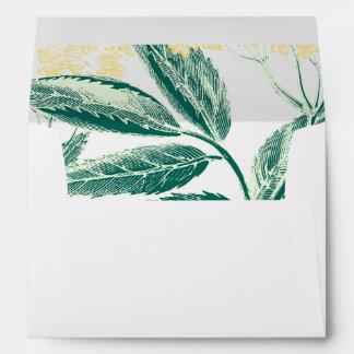 Elderberry flowers | Rustic Forest Wedding Lined Envelope