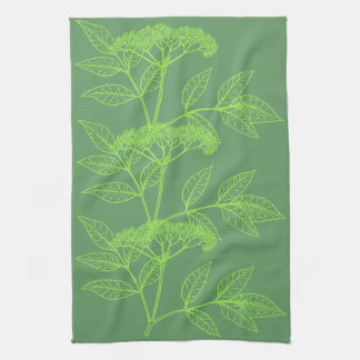 Elderberry Sambucus kitchen towel
