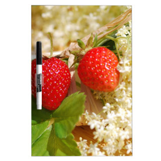 Elderflower and strawberry dry erase board