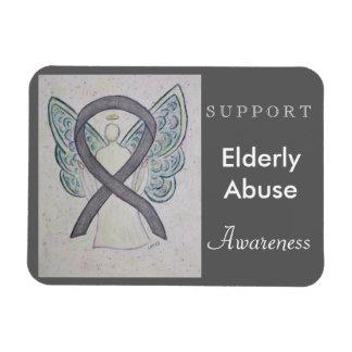 Elderly Abuse Awareness Ribbon Angel Custom Magnet