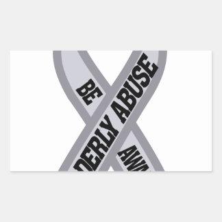 Elderly Abuse Rectangular Sticker