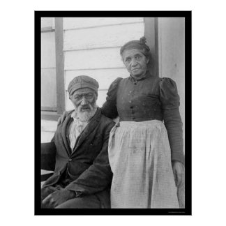 Elderly African American Couple 1900 Posters