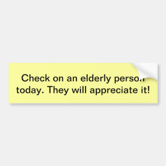 elderly car bumper sticker