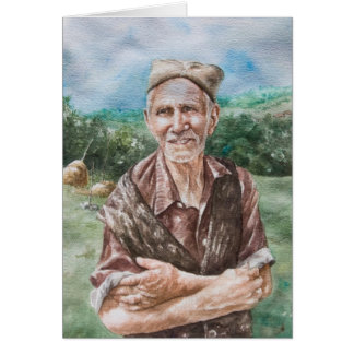Elderly Farmer, Arandjelovac Card
