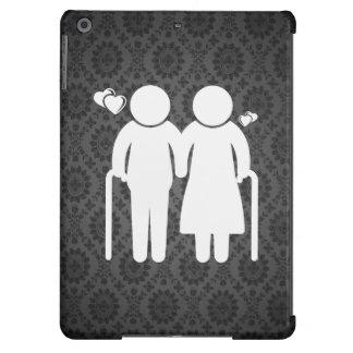 Elderly Lovers Minimal iPad Air Cover