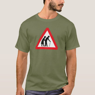 Elderly People (1), Traffic Sign, UK T-Shirt