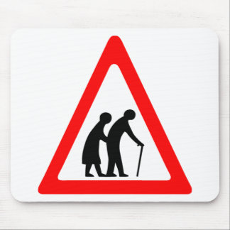 Elderly People Mouse Pad
