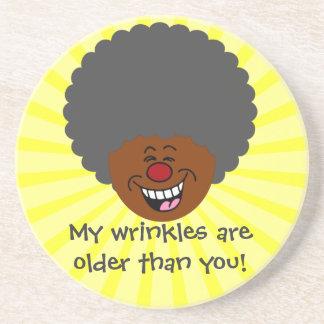 Elderly Wrinkles are Older Than You Senior Citizen Sandstone Coaster