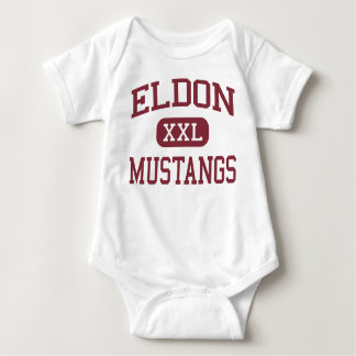 Eldon - Mustangs - High School - Eldon Missouri Baby Bodysuit