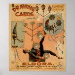 ELDORA Juggler Equilibrist Act VAUDEVILLE Poster