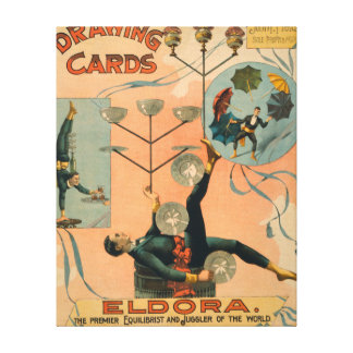 Eldora, Premier Equilibrist and Juggler of the Canvas Print