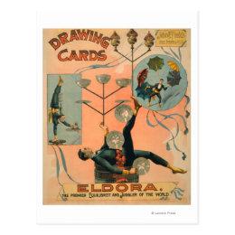 Eldora, Premier Equilibrist and Juggler of the Postcard