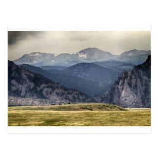 Eldorado Canyon and Continental Divide Above Postcard