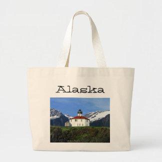 Eldred Rock Lighthouse; Alaska Large Tote Bag